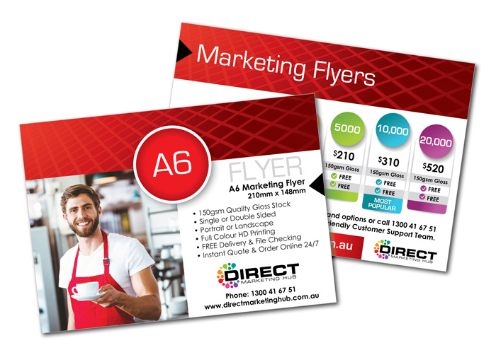 A6 Marketing Flyers - product flyer
