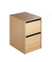 Wooden Filing Cabinet 2 Drawers Oak