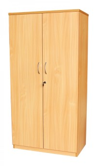 Tall Office Cupboard in Beech, White or Oak