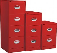 Red Filing Cabinet 2 Drawer