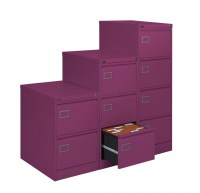 Purple Executive Filing Cabinet 4 Drawers
