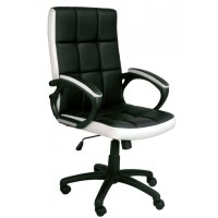 Waffle Black and White Office Chair