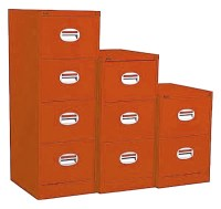 Orange Filing Cabinet 3 Drawers