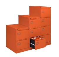 Orange Executive Filing Cabinet 2 Drawers