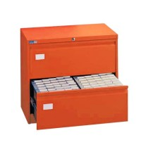 Silverline 2 Drawer Side Filing Cabinet Orange