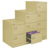 4 Drawer Cream Executive Filing Cabinet