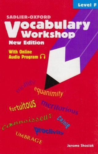 ISBN 9780821571118 - Vocabulary Workshop  Level F Direct Textbook - vocabulary workshop level d answers