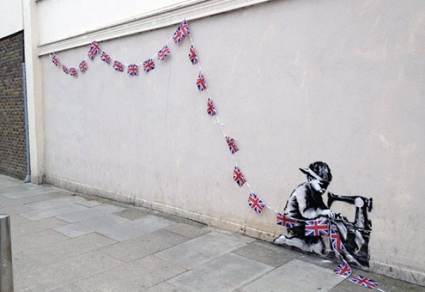 New Banksy Spotted in London - Child Labor in the U.K.