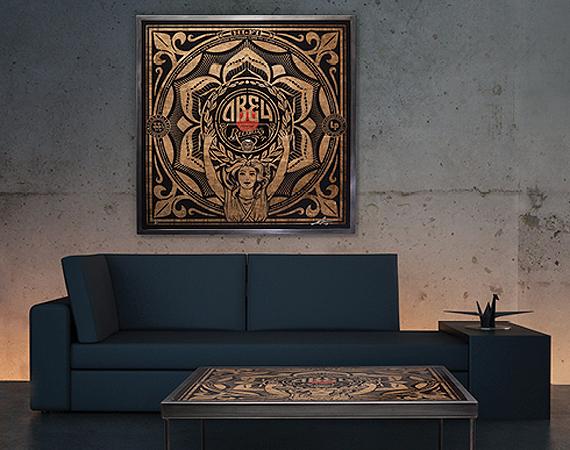 Shepard-Fairey-x-Prints-On-Wood-Coffee-Table-Art-Piece-00