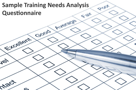 Example Training Needs Analysis Questionnaire - DirJournal Blogs