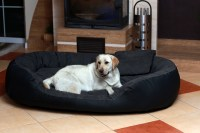 tierlando Dog bed PHILIPP VIP Faux lether Velour 110 140 ...