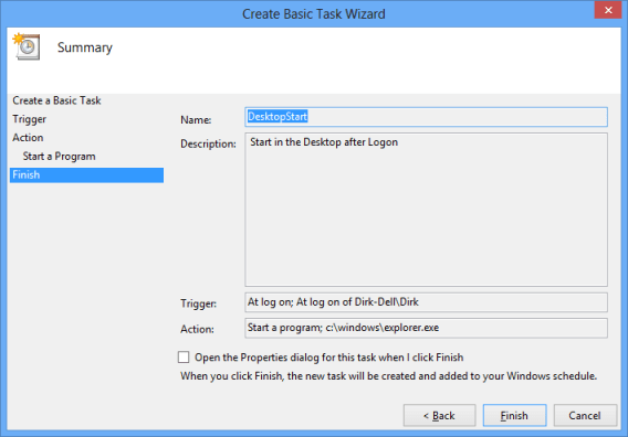 Create Basic Task Overview