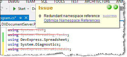 redundant namespaces