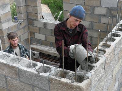 Castle Construction Building A Split Face Block Castle
