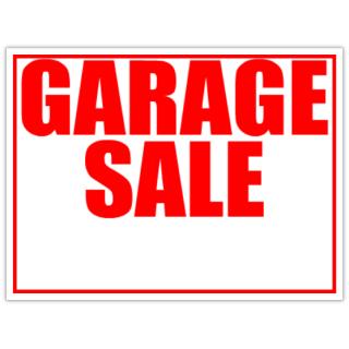 Church Yard Sale Signs