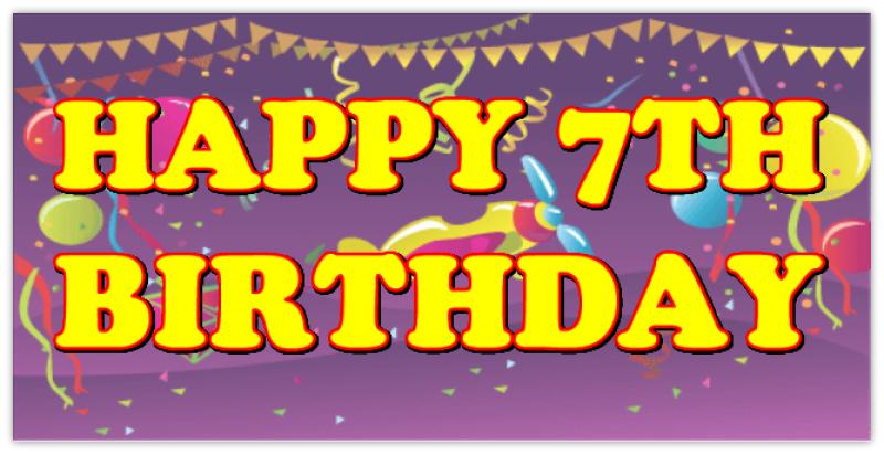 Happy 7th Birthday Birthday Banner Templates Design Templates
