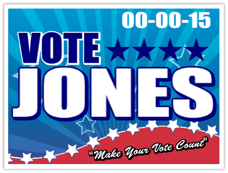 Political122 Political Sign Templates, Campaign Signs, Yard Signs