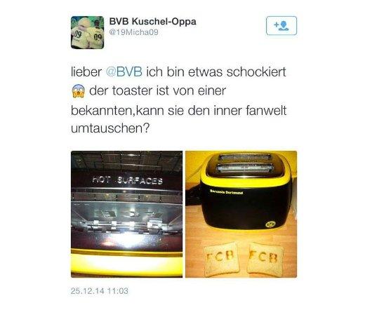 SCREENSHOT Nur als Zitat/ BVB Toaster