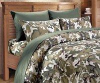 Microfiber 3 Piece Classic Green Camo Bed Sheet ...