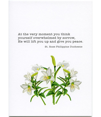 He Will Lift You Up St Rose Sympathy Card