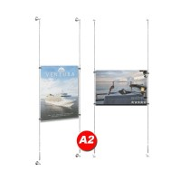 A2 Poster Holder Kit - Cable Display Systems