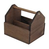 Wooden Condiment Holder | Discount Displays