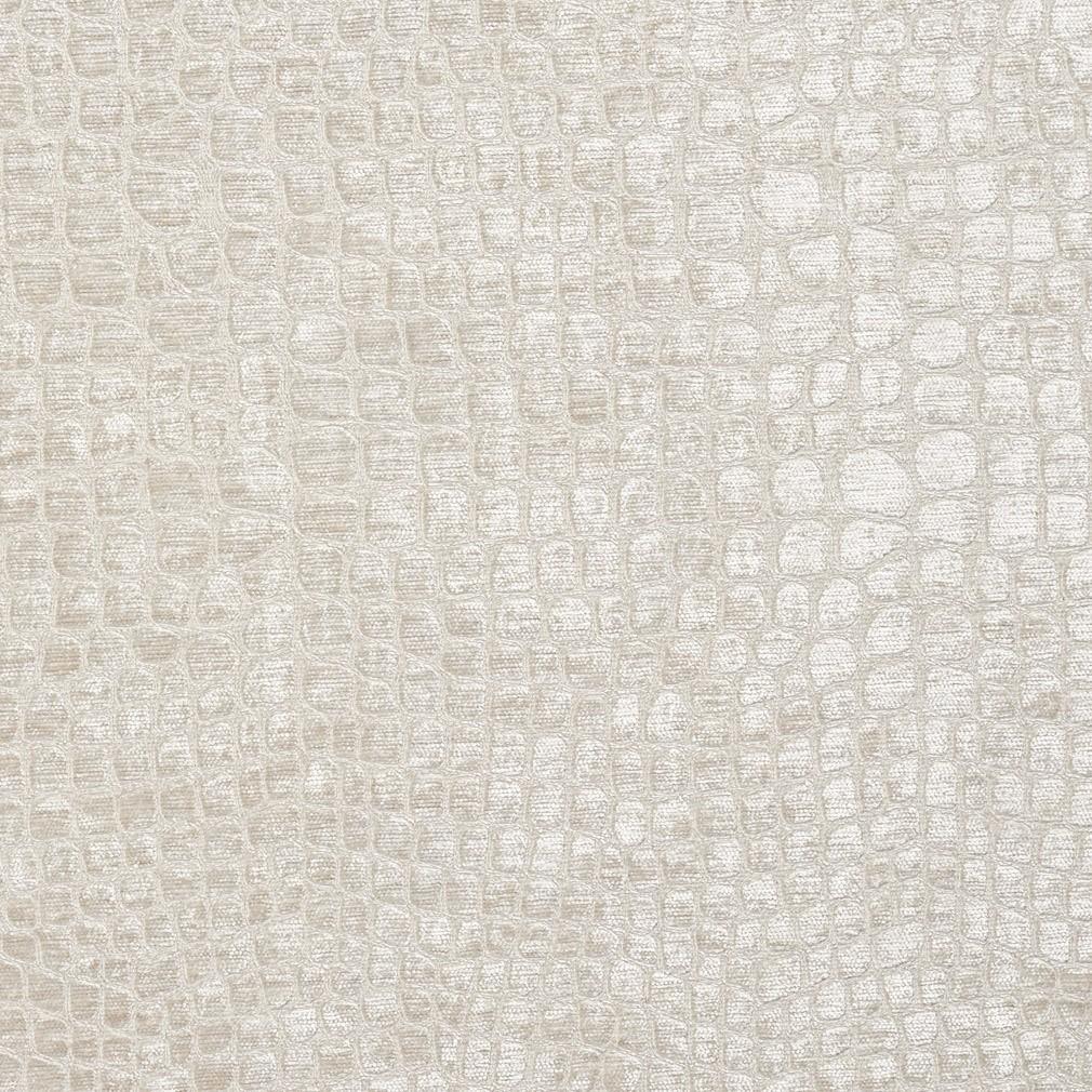 Metallic Animal Print Wallpaper Off White Textured Alligator Shiny Woven Velvet Upholstery