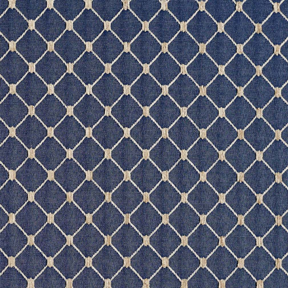 Purple Animal Print Wallpaper Navy Blue Diamond Jacquard Woven Upholstery Fabric By The
