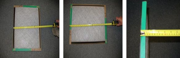 Measuring Furnace Filter