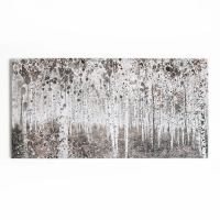 Graham and Brown Neutral Watercolour Woods Printed Canvas