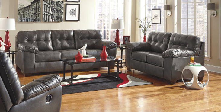Leather Living Room Sets - Discount Living Rooms - gray leather living room sets