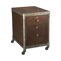 Hammary Structure Rolling File Cabinet in Heavily ...