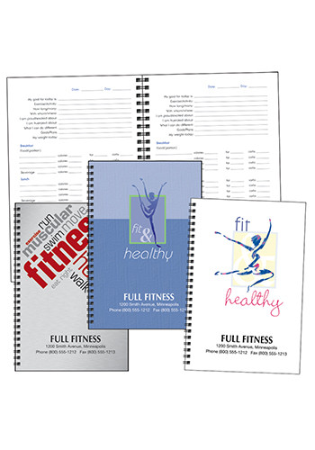 Personalized Triumph Food and Fitness Journals X11526 - Discountmugs