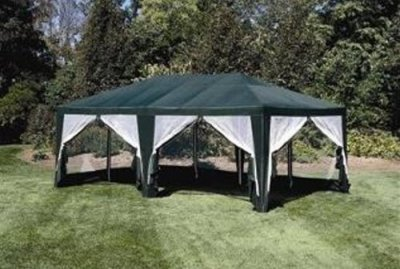Deluxe Party Tent, Sun Shelter 20ft x 12ft in Green | Discount Tents Nova