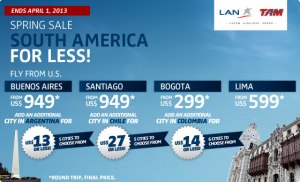 lan airfare sale south america 300x182 LAN Airfare Sale to Buenos Aires + Add On Another City in Argentina for Only $13 More