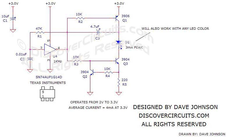 Circuit #3663V BATTERY POWERED WHITE LED DRIVER