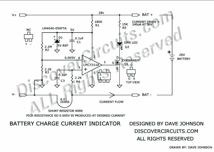 battery charger current indicator circuit