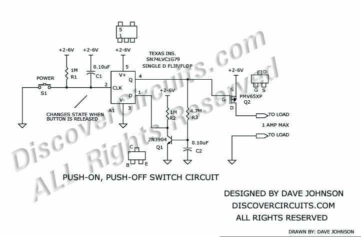 hobby circuit miniature pushbutton on off switch