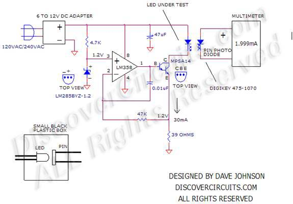 circuit circuit white led life tester schematic or circuit