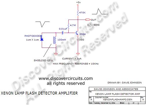 hobby circuit xenon lamp flash detector circuits designed by david