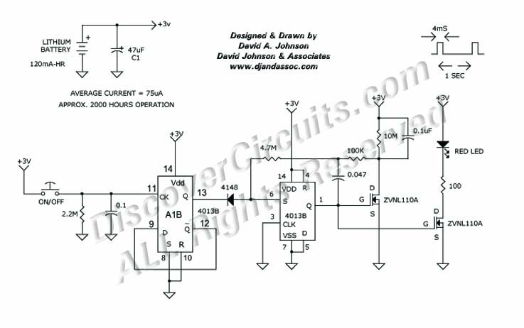 blinking led circuit click for a pdf version