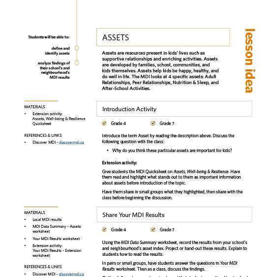 MDI Lesson Plan ideas Discover MDI