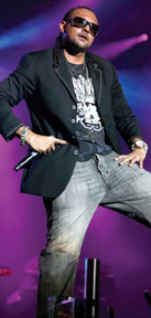 Reggae/dancehall star Sean Paul at Tobago Jazz. Photographer: Andrea de Silva