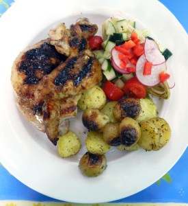 Grilled Chicken with Pomegranate Glaze - Discovery Cooking
