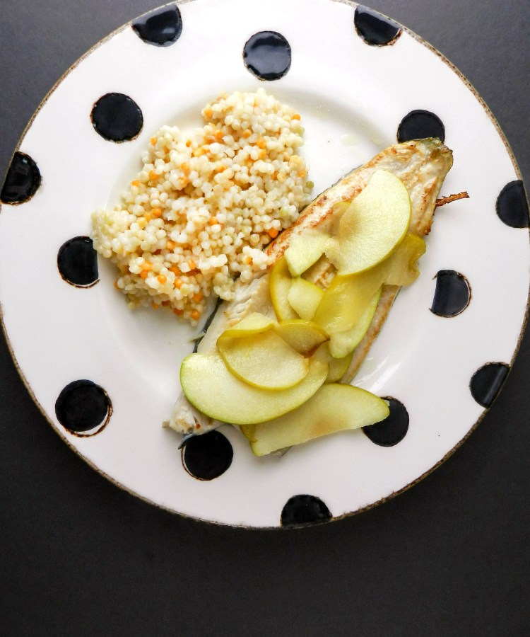 rainbow trout with apples