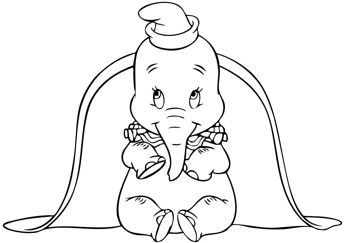 25 Disegni Dumbo Da Colorare Per Bambini