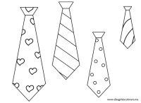 Disegno Cravatta Da Colorare Festa Del Papà Segnalibri A