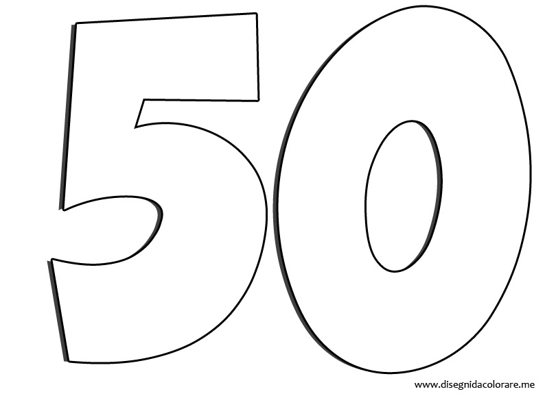 numero 50 para pintar