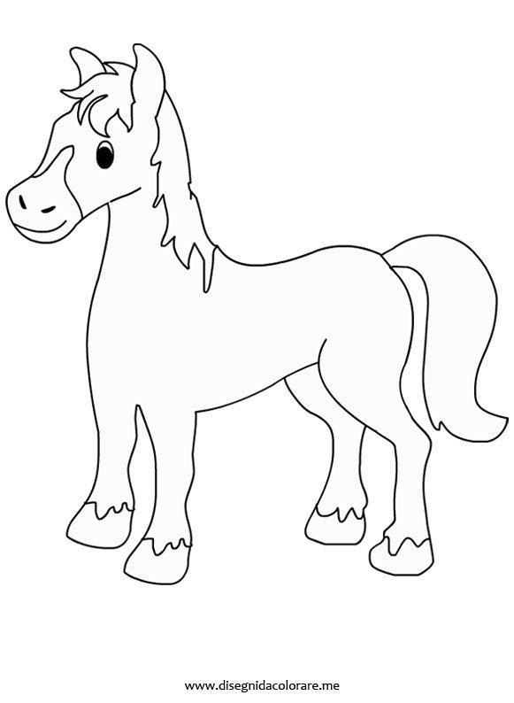 Cavallo da colorare for Cavallo stilizzato