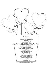 Poesia per la festa della mamma | Disegni da colorare